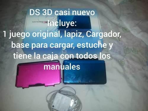 Dsi 3d usado como nuevo caja y accesorios