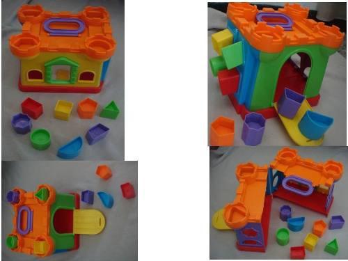 Juguete didactico figuras geometricas foami carrito