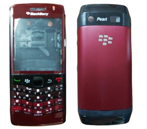 Carcasa nueva para blackberry perl 3g 9100 vinotinto