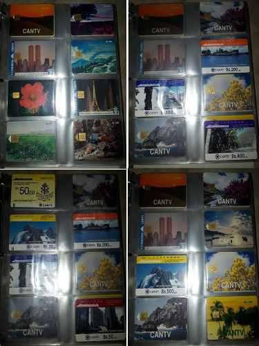 Colección de tarjetas telefónicas cantv