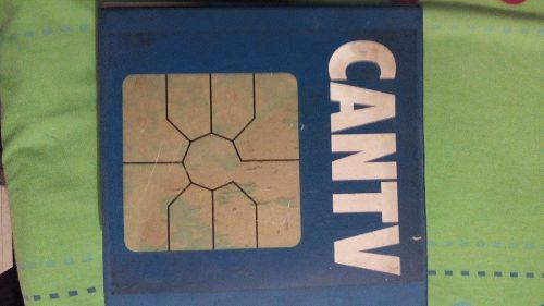 Colección de tarjetas telefónicas con chip cantv