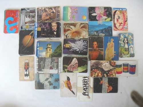 Coleccion de tarjetas telefonicas antiguas mas de 100