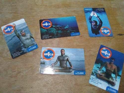 Lote 5 tarjetas movilnet carlos coste