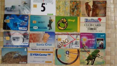 Tarjetas telefonicas internacionales coleccion