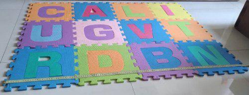 Alfombra de foami abecedario, para niños y bebes / 12