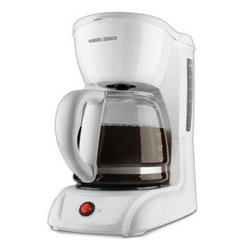 Cafetera 12 tazas coffeemaker blackanddeker blanca importada