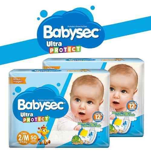 Pañales babysec baby sec ultraprotect etapa 2/m x 100 und