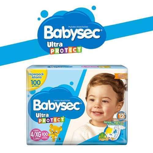 Pañales babysec baby sec ultraprotect etapa 4/g x 100 und