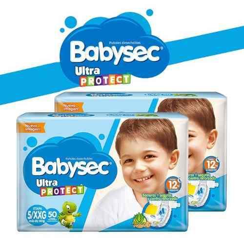 Pañales babysec baby sec ultraprotect etapa 5/g x 100 und