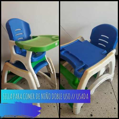 Silla mesa para comer bebe niños doble uso
