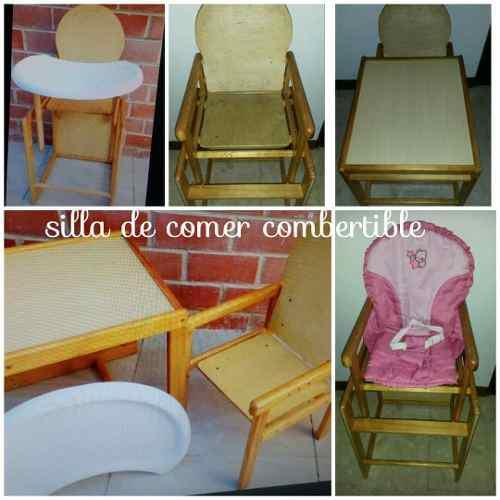 Silla para comer bebe se convierte en mesa y silla