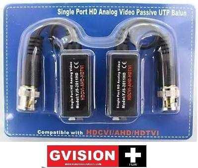 Video balun flexible camara seguridad dvr cctv conector