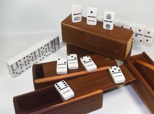 Domino grabado personalizable profesional piedra grande