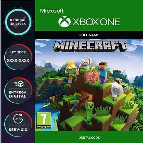 Minecraft para xbox one codigo digital y juega online