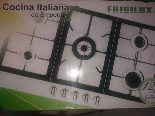 Tope cocina italiana frigilux 5 hornillas modelo tcfr-95stx