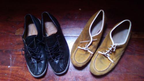 Zapatos de bowling talla 37 negro y 35 amarillo