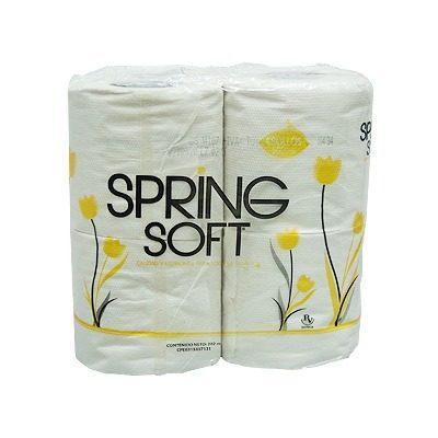 Bulto de papel higiénico spring soft 500 hojas