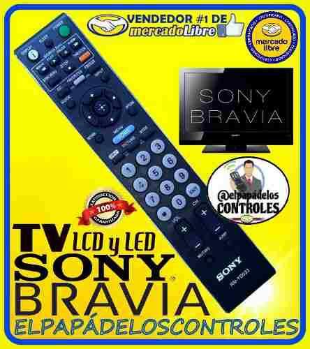 Control televisor sony bravia lcd led rm-yd023 / nuevo.!!!