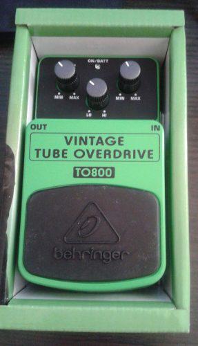 Pedales de guitarra vintage tube overdrive y delay nuevos