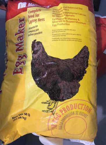 Vendo alimento para gallinas ponedoras 100% efectivo