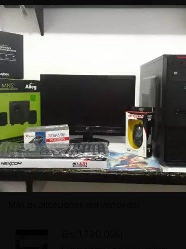Computadoras intel core i3 4g de ram 500hdd somos tienda