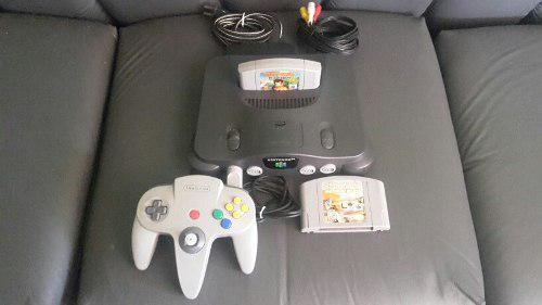 Nintendo 64 con 1 control, 2 juegos, cables y transformador