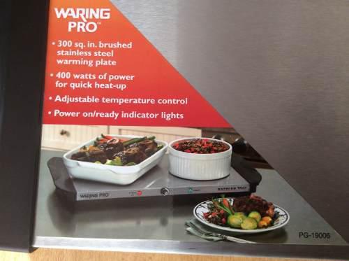 Plancha warning pro de 400 vatios de acero inoxidable nueva