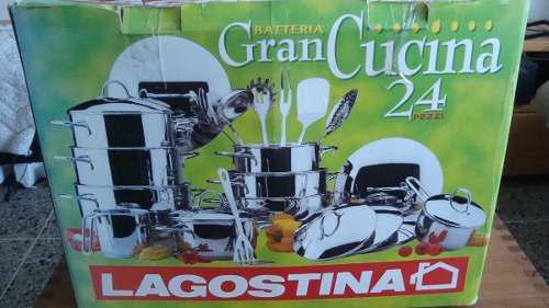 BATERIA NUEVA DE OLLAS LAGOSTINA 17 PIEZAS segunda mano  Libertador-Aragua (Aragua)