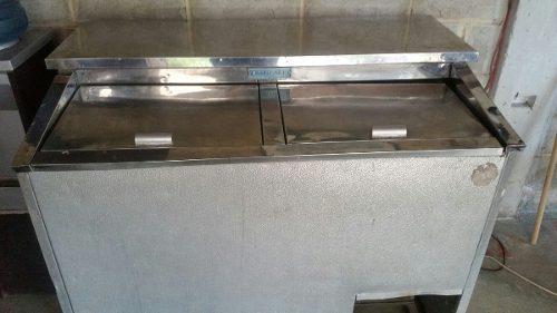 Enfriador 2 tapas tropicold nevera congelador