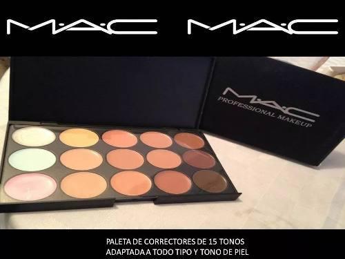 Paleta correctores mac 15 tonos maquillajes mac