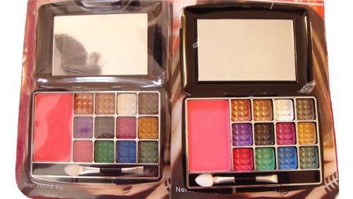 Sombras con espejos de ojos de 13 colores mayor y detal..
