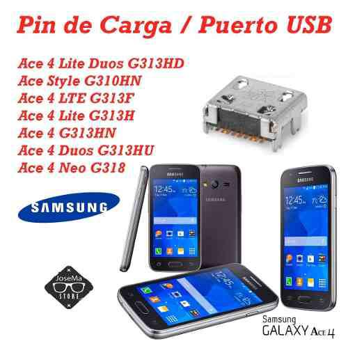 3 pin de carga samsung ace4 g313 s6810 galaxy fame/ g130e g