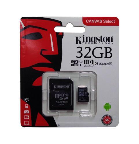 Memoria Micro Sd Hc Kingston 32gb Canvas Clase 10 Original
