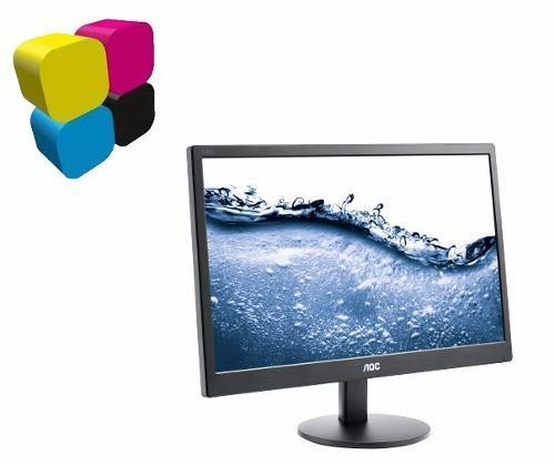 Monitor aoc 20'' e2070sw led puerto vga nuevo