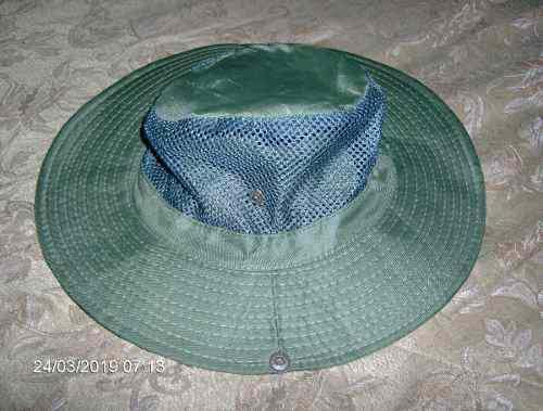 Sombrero Verde Malla Camping Pesca Deporte Avila Sol Lluvia