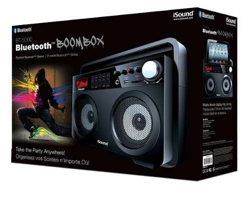 Corneta boombox portátil con bluetooth isound bt-5000