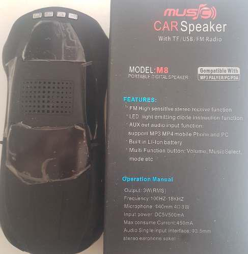 Corneta digital portable carro reproductor mp3 / mp4