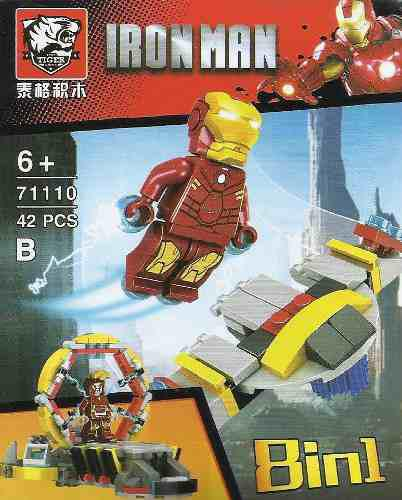 Minifiguras armables tiger7111 iron man jarvis