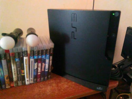 Playstation 3 320gb con 33 juegos fisicos