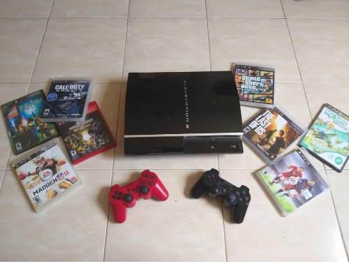 Playstation 3 con juegos originales 160gb
