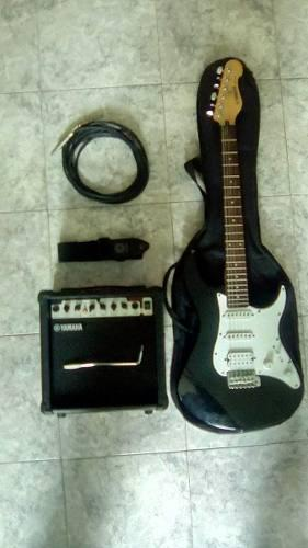 Guitarra electrica yamaha + estuche + ampli