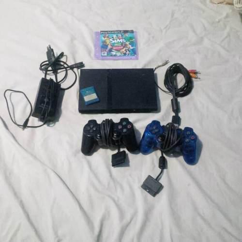 Play station ii dos controles juegos en buen estado