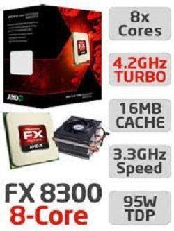 Procesador amd fx 8300 de ocho núcleos black edition
