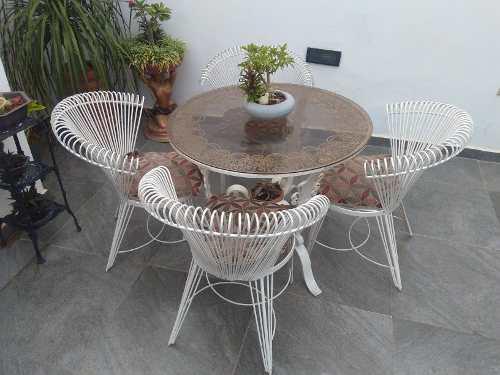 Juego de muebles de jardin en hierro forjado
