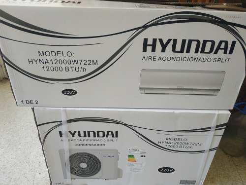 Aire acondicionado hyundai split de 12000 btu nuevo 220v