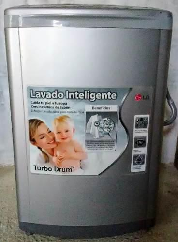 Lavadora lg turbodrum fuzzy logic inteligente de 13 kg.
