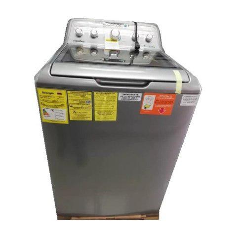 Lavadora mabe gris de 22 kg