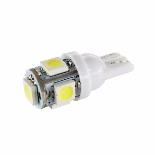 Bombillo muelita led t10 led blanco 5 led blanco alto brillo