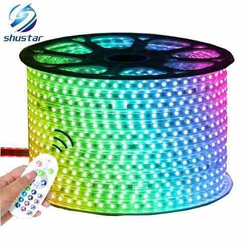 Cinta led rgb 110v led 5050 multicolor 60 led por metro ofer
