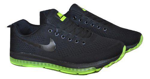 Kp3 zapatos caballeros nike air zoom j negro verde
